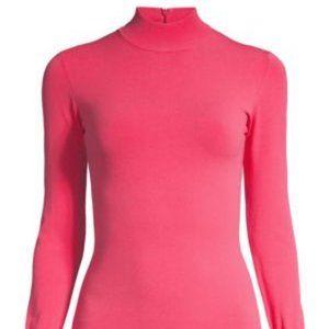 Herve Leger Pink Turtleneck Bodysuit Small